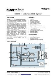 WM8216 - Wolfson Microelectronics plc