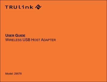 USER GUIDE WIRELESS USB HOST ADAPTER
