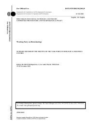 Summary Record of The meeting of The Task Force on Biological ...