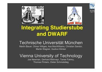 Integrating Studierstube and DWARF