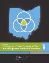 Advancing Ohio's Innovation Economy - Ohio Board of Regents