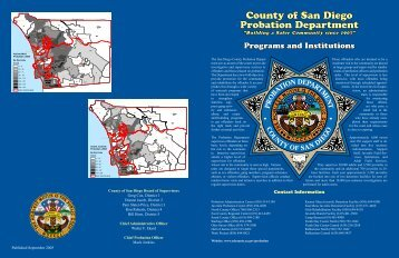 Programs and Institutions - County of San Diego
