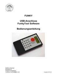 FUNKY USB-Anschluss FunkyTool Software Bedienungsanleitung
