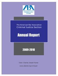 Table of Contents - American Bar Association