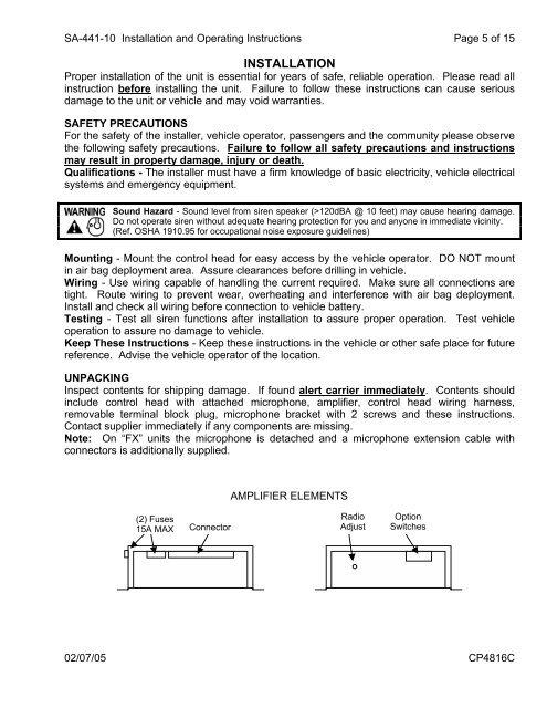 Emergency Vehicle Wiring Harnes