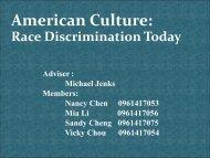 American Culture: Race Discrimination Today