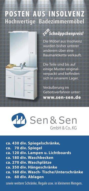 POSTEN AUS INSOLVENZ Hochwertige Badezimmermöbel ...