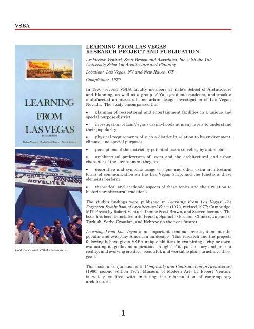 Publication: Learning From Las Vegas - Denise Scott Brown