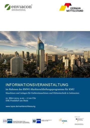 informationsveranstaltung - Deutsch-Indonesische Industrie- und ...