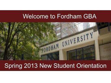 MBA Consulting Program - Fordham University