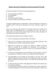 Rapport concernant la réalisation du répertoire numérique P ...