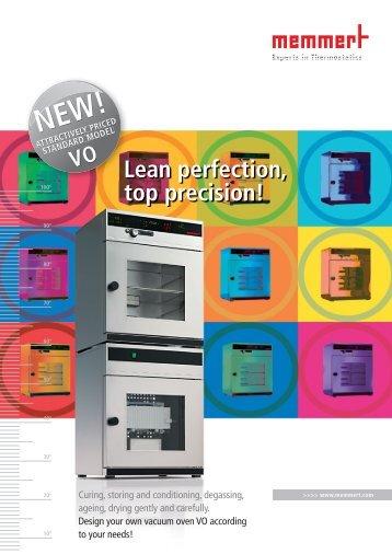 Memmert Vacuum Ovens Salesfolder - t Labo