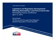 Legislative and Regulatory Developments Affecting Remodeling ...