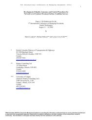 Development of Quality Assurance and Control Procedures for ...