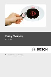 Easy Series - Bosch Security Systems