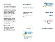 Chest Pain Clinic - Markham Stouffville Hospital