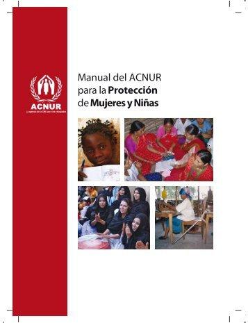 manual del acnur para la protección de mujeres y niñas