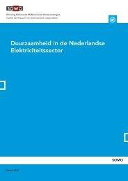 SOMO - Duurzaamheid Nederlandse Electriciteitssector 2012