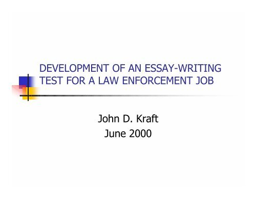 Development Of An Essaywriting Test For A Law   Ipac  Writers Freelance also E Business Essay  Essay Thesis