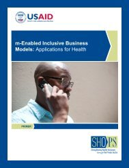 m-Enabled Inclusive Business Models ... - (SHOPS) project