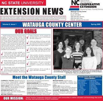 EXTENSION NEWS - Watauga County Center - North Carolina State ...