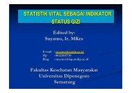 PSG Statistik Vital - Suyatno, Ir., MKes - Undip