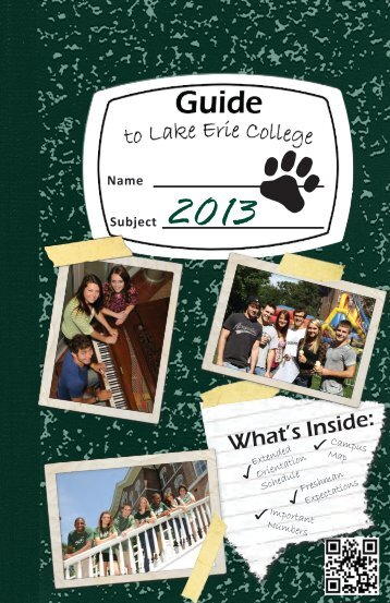 Extended Orientation - Lake Erie College