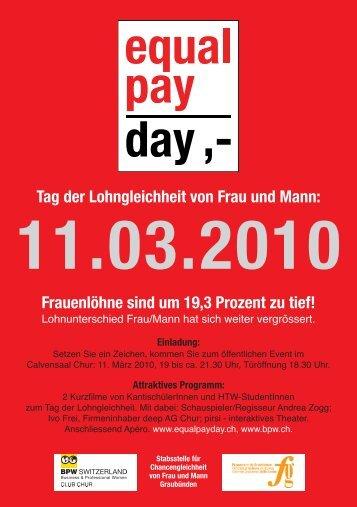 Tag der Lohngleichheit von Frau und Mann - Frauenzentrale