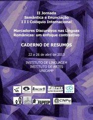 CADERNO DE RESUMOS - IEL - Unicamp