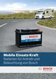 Mobile Einsatz-Kraft: Batterien für Antrieb und Beleuchtung von  Bosch