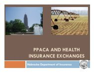 ppaca and health insurance exchanges - Nebraska Association of ...