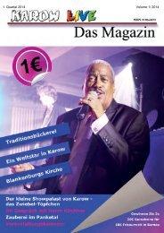 Karow LIVE - Das Magazin Ausgabe 1-2014