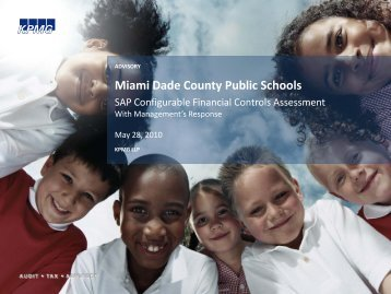 KPMG – Miami-Dade County Public Schools-SAP - Dadeschools.net