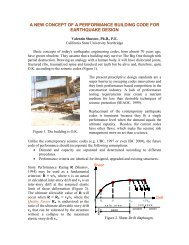 a new concept of a performance building code for earthquake design