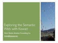 Exploring the Semantic Web with Kowari - Bosatsu Consulting