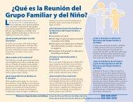 ¿Qué es la Reunión del Grupo Familiar y del Niño?