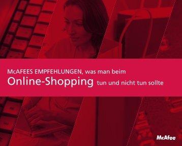 Online-Shopping tun und nicht tun sollte McAFEES ...