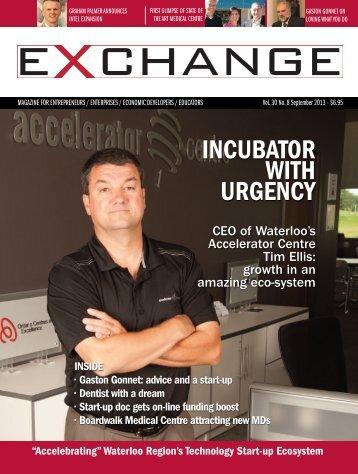 INCUBATOR WITH URGENCY - Exchange Magazine
