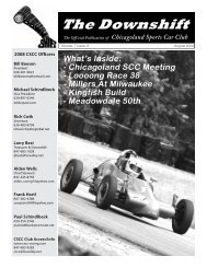 August 2008 - Alden Wells - Chicagoland Sports Car Club