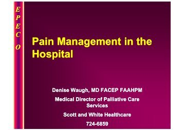 Pain Management for the Impatient Hospitalist - Healthcare ...