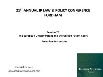 The European Unitary Patent and Unified Patent Court - Fordham IP ...