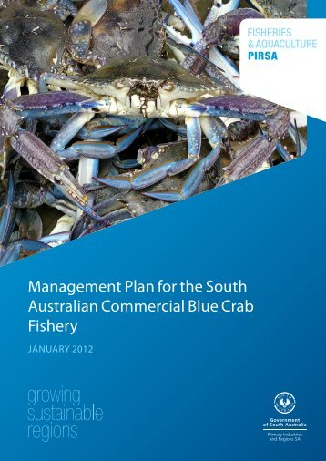 Blue Crab Fishery Management Plan - PIRSA - SA.Gov.au