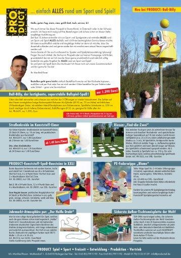 PROD_8seiter_pdf-Versand.fh11 - PRODUCT Sport Spiel Freizeit