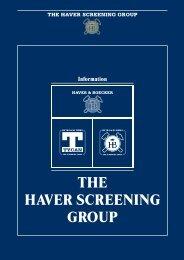 THE HAVER SCREENING GROUP - Vermeulen Ingenieursbureau