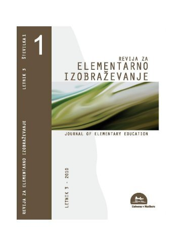 povzetek - Pedagoška fakulteta - Univerza v Mariboru