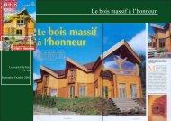 Le bois massif à l'honneur - Chalet & Maison bois Poirot