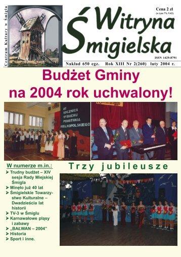 Bud¿et Gminy na 2004 rok uchwalony! - Centrum Kultury w Śmiglu