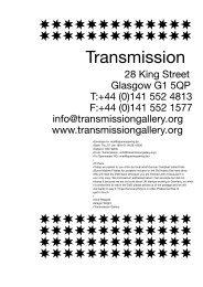 Transmission (Glasgow, Scotland) - Sparwasser HQ