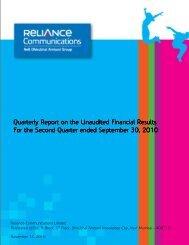 2 nd Quarter - Reliance Communications