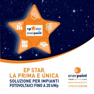 LA PRIMA E UNICA EP STAR, - Enerpoint